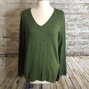 Market&Spruce Sweater Size M Green Knit